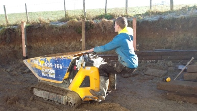 A good way to travel on a muddy site!