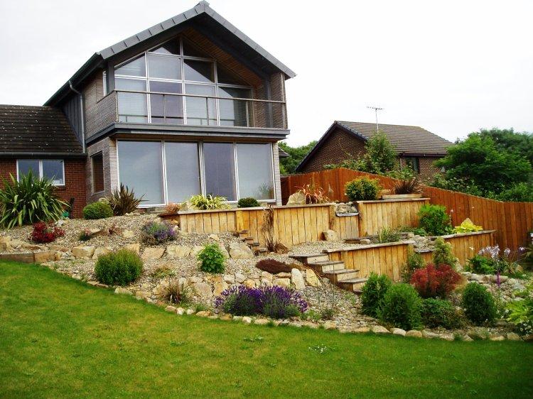 Terraced seaside garden Aberaeron