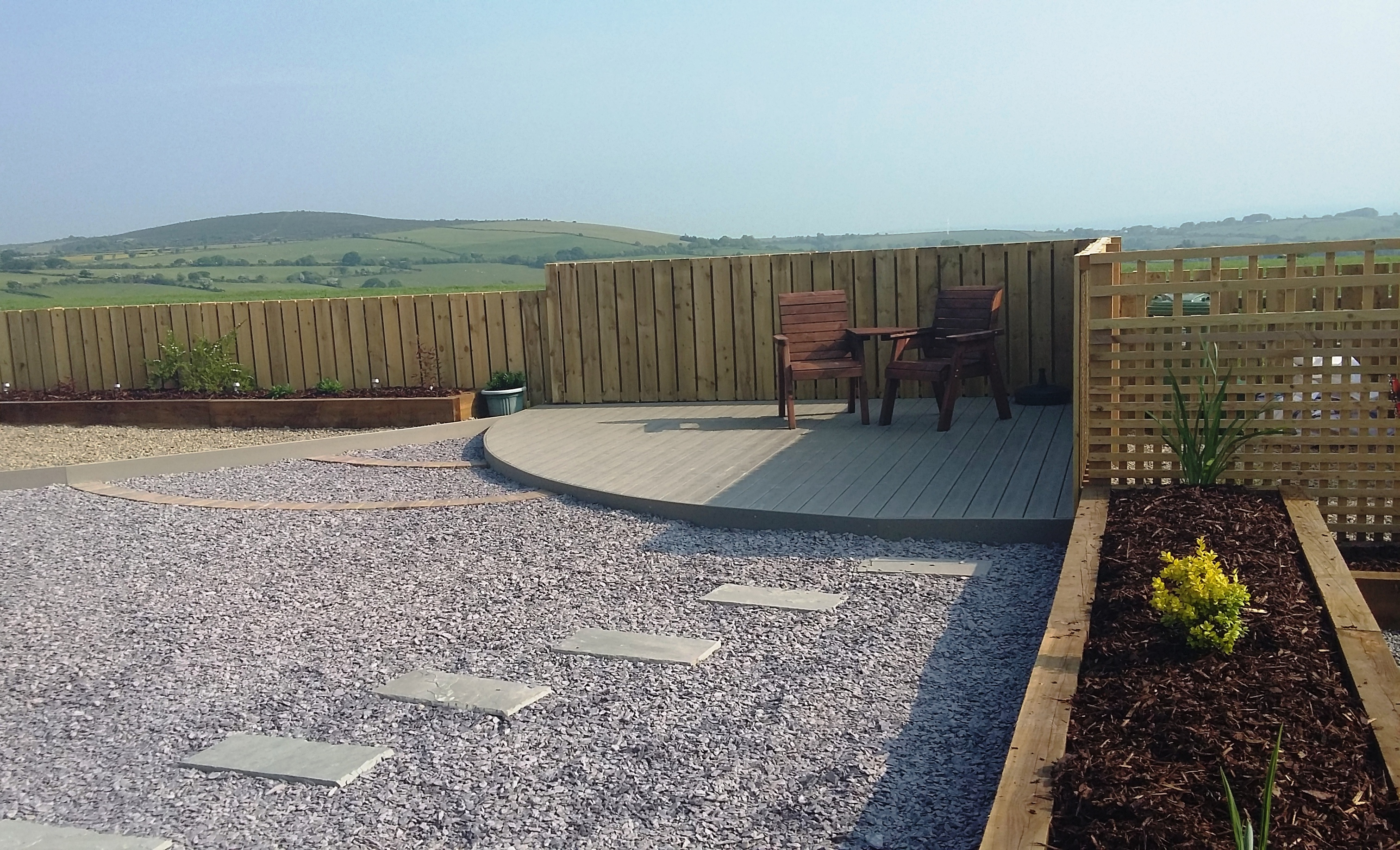 New build garden Pembrokeshire