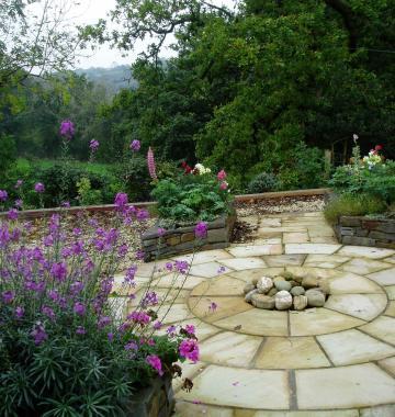 New build garden Cenarth patio