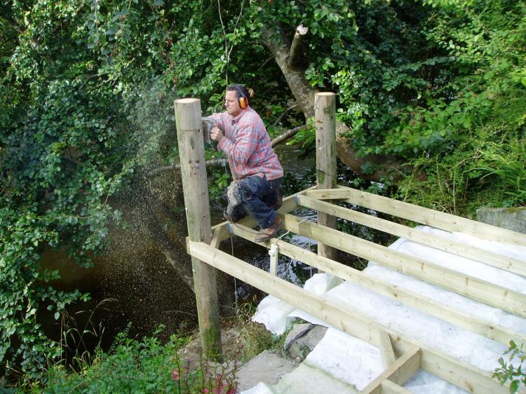 Building a beech deck, Carmarthenshire 2