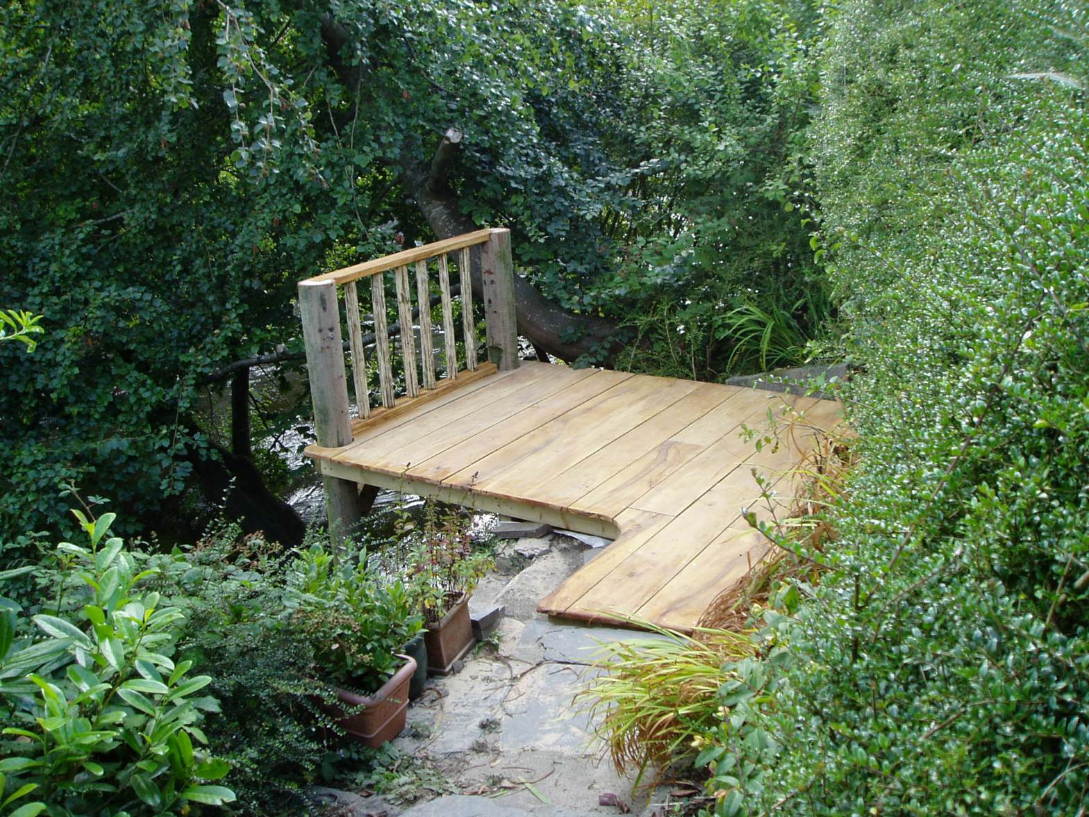 Beech plank decking, Newcastle Emlyn, Carmarthenshire