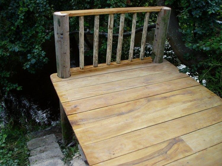 Building a beech deck, Carmarthenshire 4