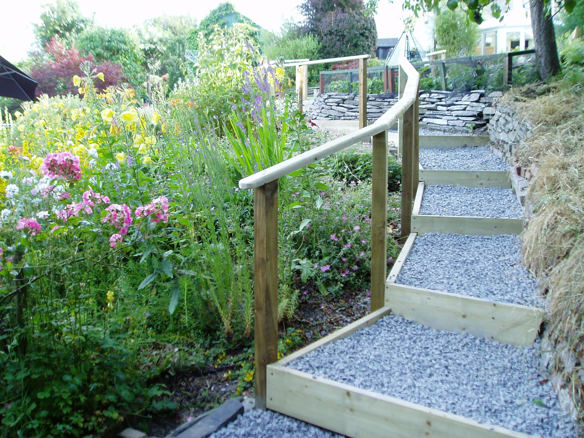 Difficult garden Cilgerran Pembrokeshire