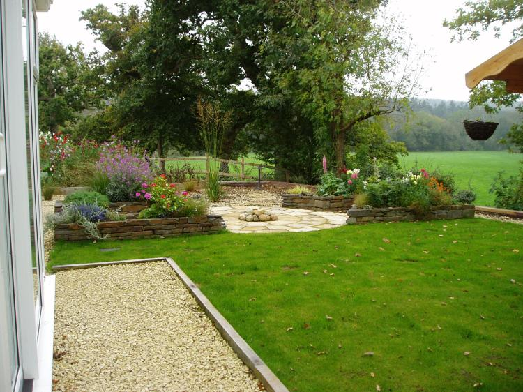 New build garden Cenarth 4