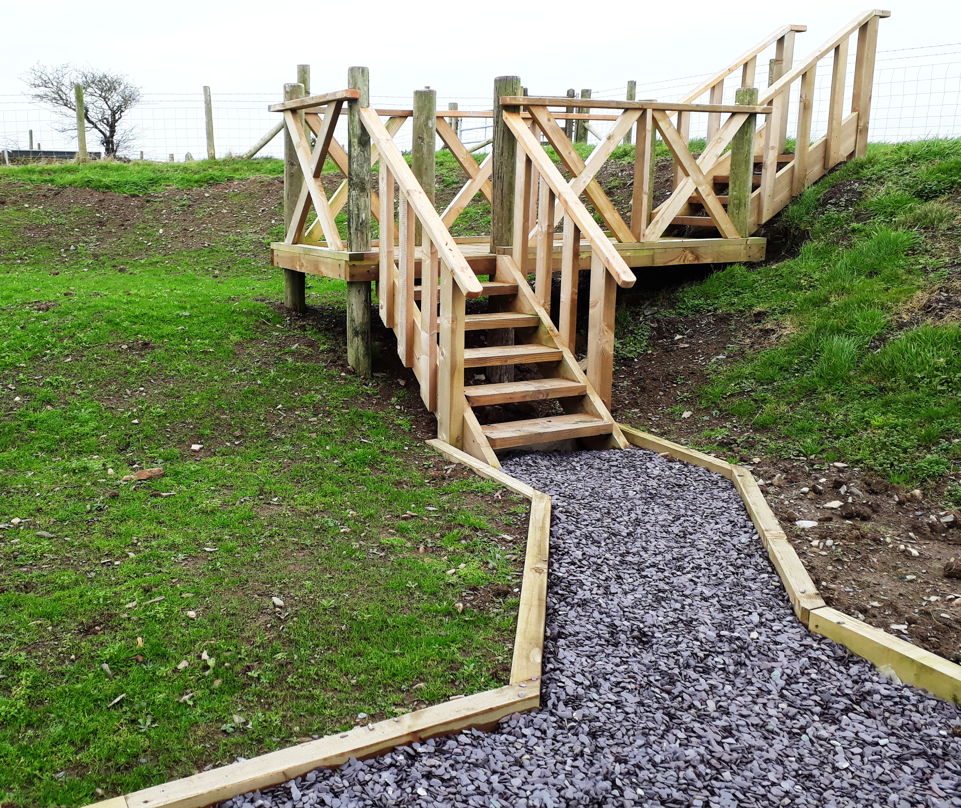 Larch steps, Aberporth, Ceredigion