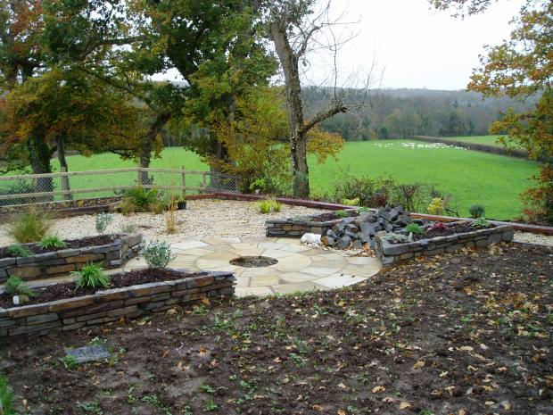 New build garden Cenarth 3